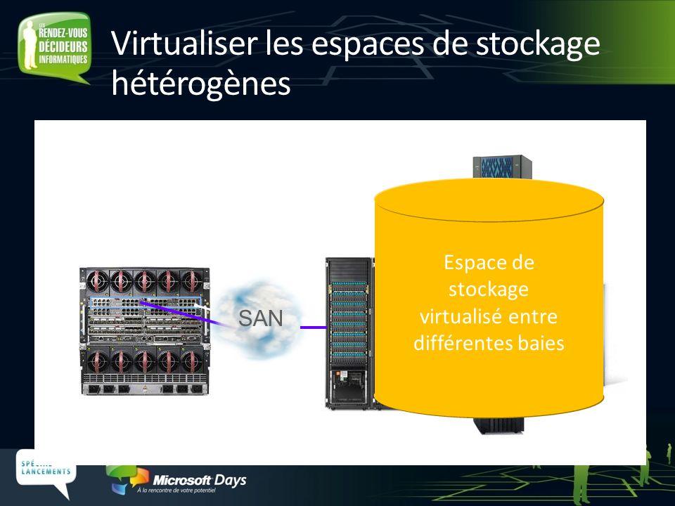 Virtualiser les espaces de stockage hétérogènes