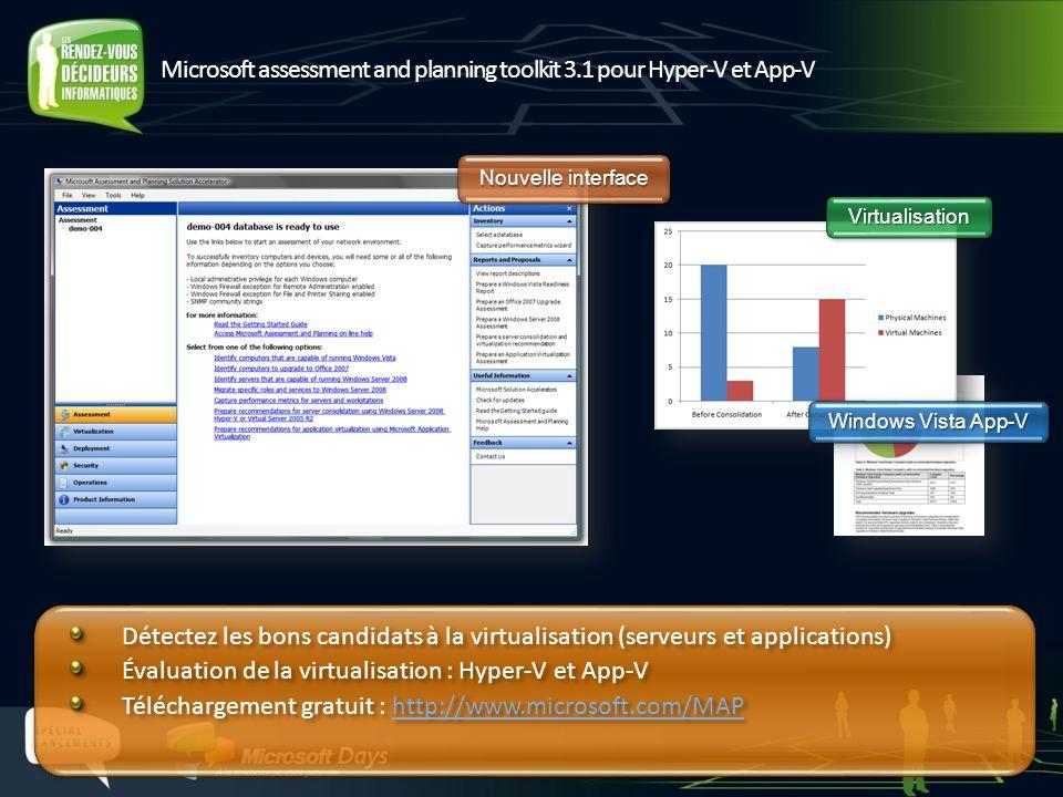 Microsoft assessment and planning toolkit 3.1 pour Hyper-V et App-V