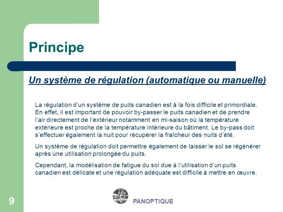 Principe Un système de régulation (automatique ou manuelle)