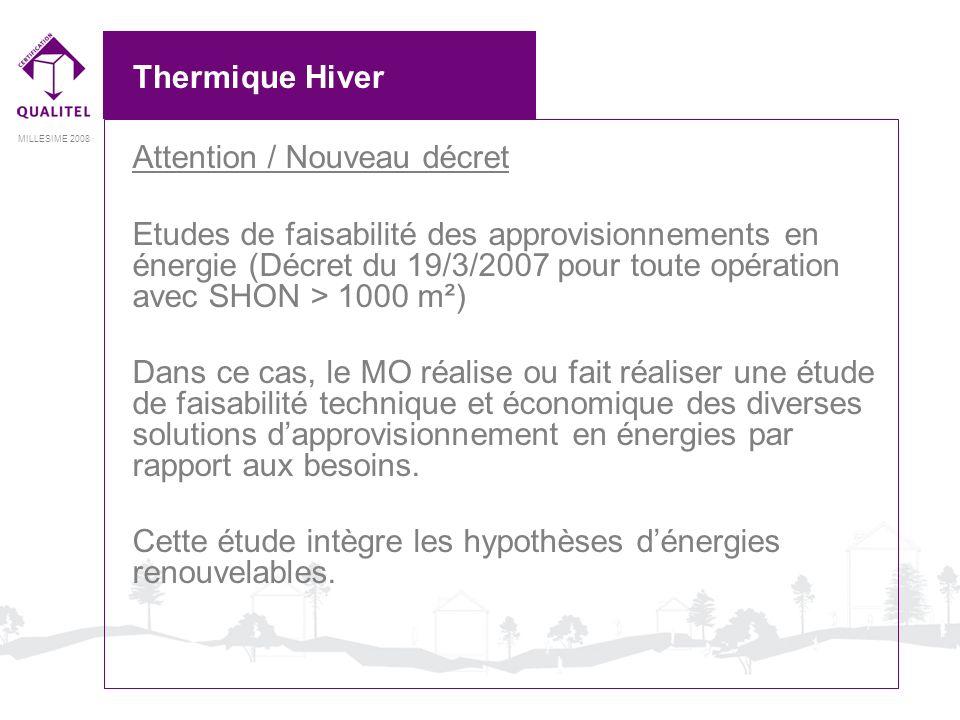 Thermique HiverAttention / Nouveau décret.