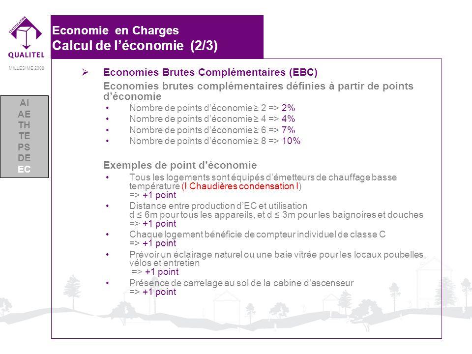 Economie en Charges Calcul de l'économie (2/3)