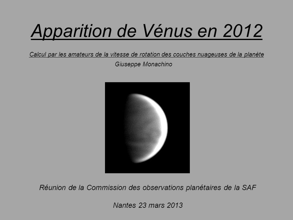 Réunion de la Commission des observations planétaires de la SAF
