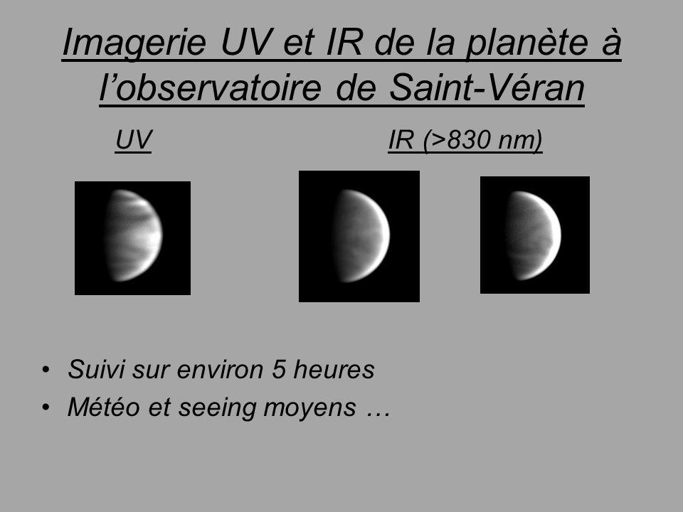 Imagerie UV et IR de la planète à l'observatoire de Saint-Véran