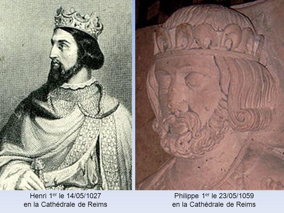 en la Cathédrale de Reims Philippe 1er le 23/05/1059