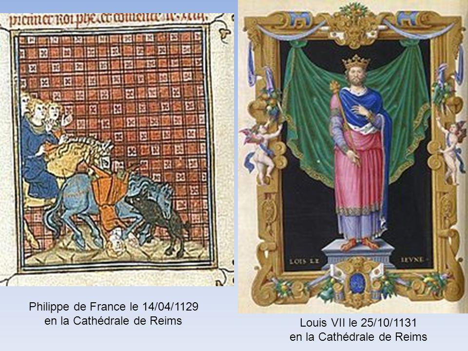 Philippe de France le 14/04/1129 en la Cathédrale de Reims