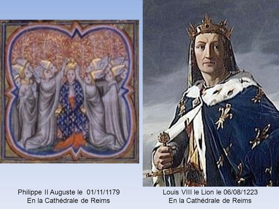 Philippe II Auguste le 01/11/1179 En la Cathédrale de Reims