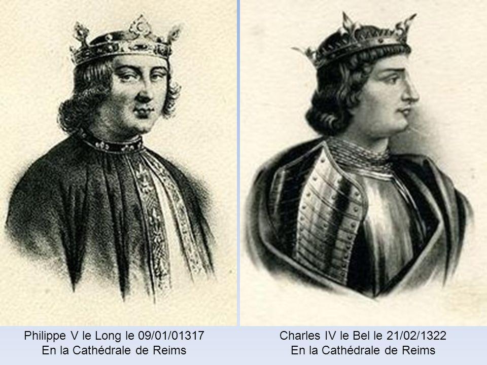 En la Cathédrale de Reims Charles IV le Bel le 21/02/1322