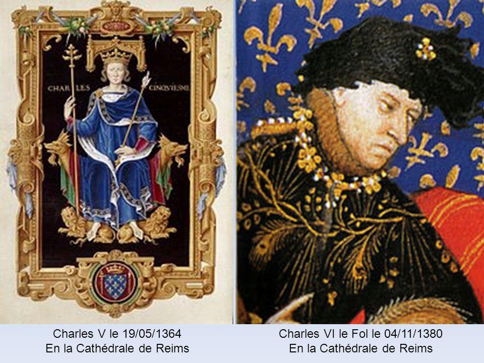 En la Cathédrale de Reims Charles VI le Fol le 04/11/1380