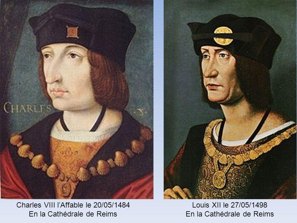 Charles VIII l'Affable le 20/05/1484 En la Cathédrale de Reims
