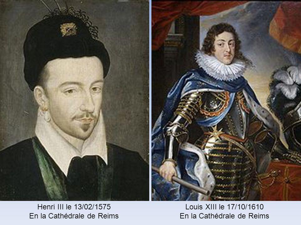 En la Cathédrale de Reims Louis XIII le 17/10/1610