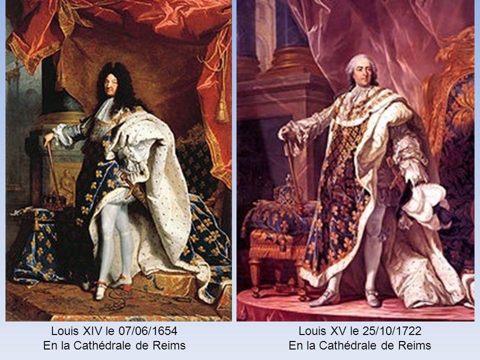 En la Cathédrale de Reims Louis XV le 25/10/1722