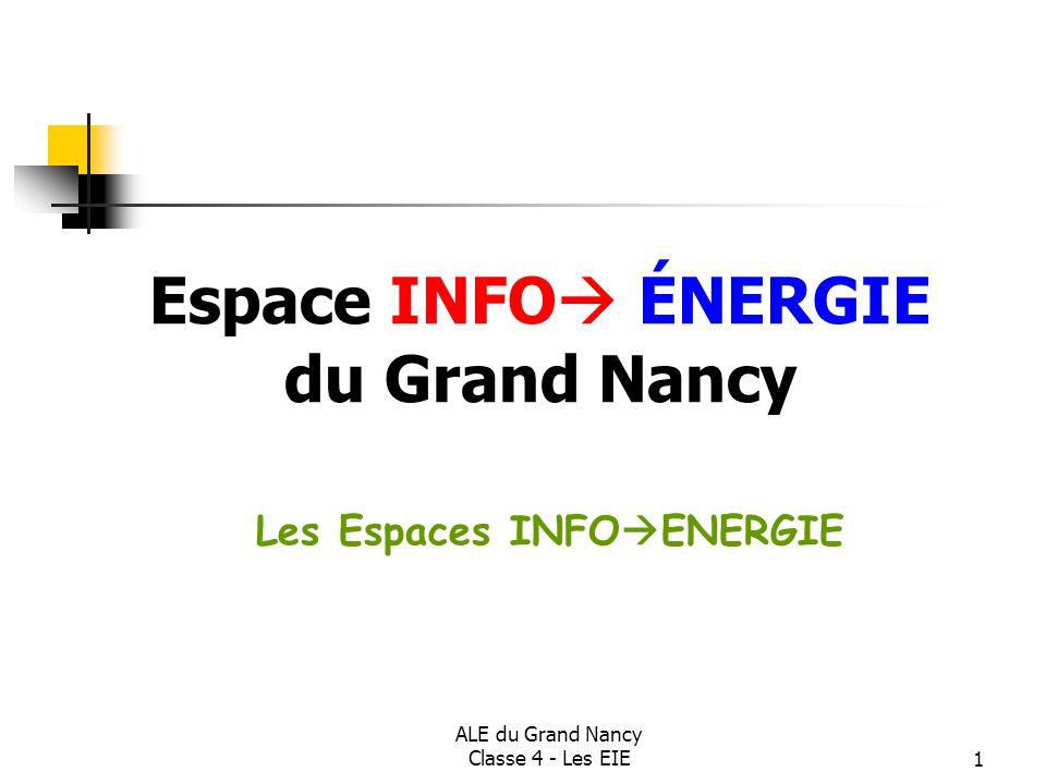 Espace INFO ÉNERGIE du Grand Nancy Les Espaces INFOENERGIE