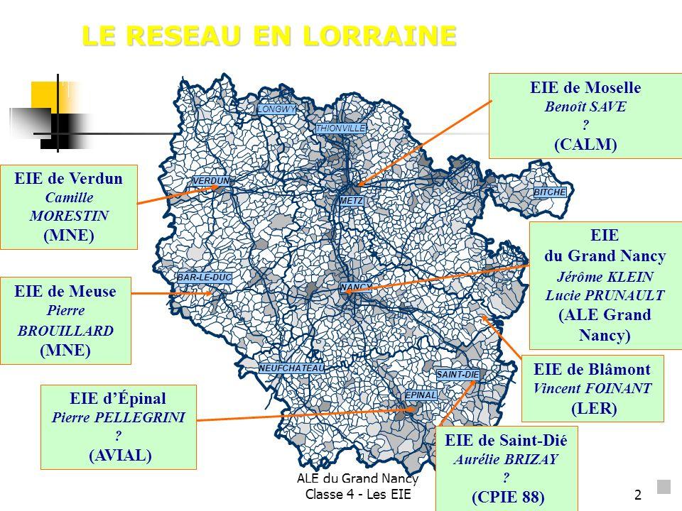 LE RESEAU EN LORRAINE EIE de Moselle (CALM) EIE de Verdun (MNE) EIE