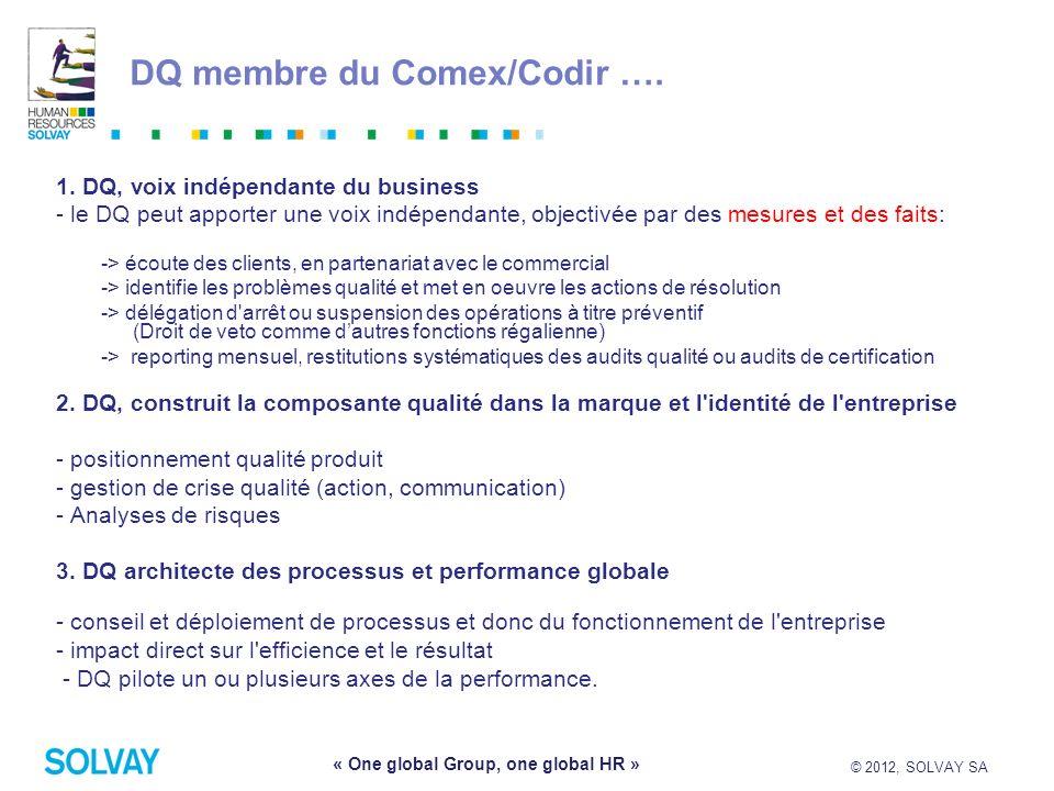 DQ membre du Comex/Codir ….