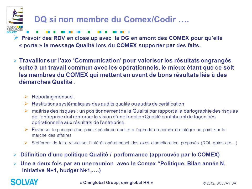 DQ si non membre du Comex/Codir ….