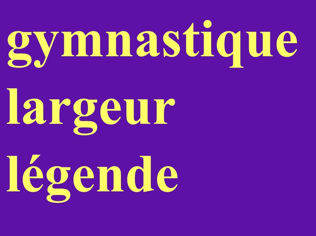 gymnastique largeur légende