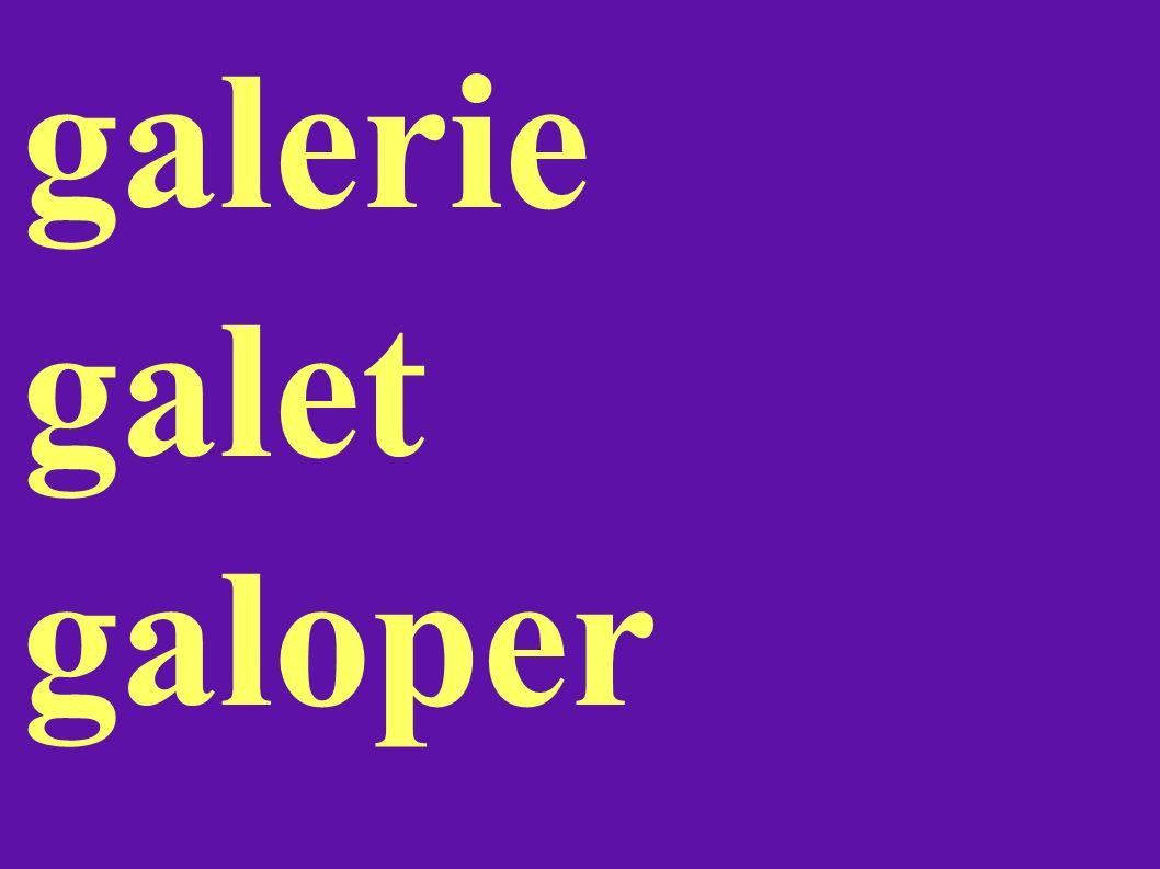 galerie galet galoper