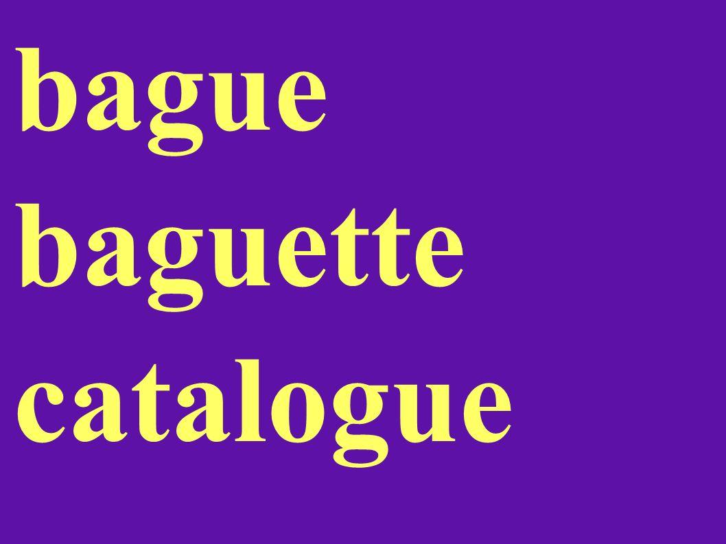 bague baguette catalogue