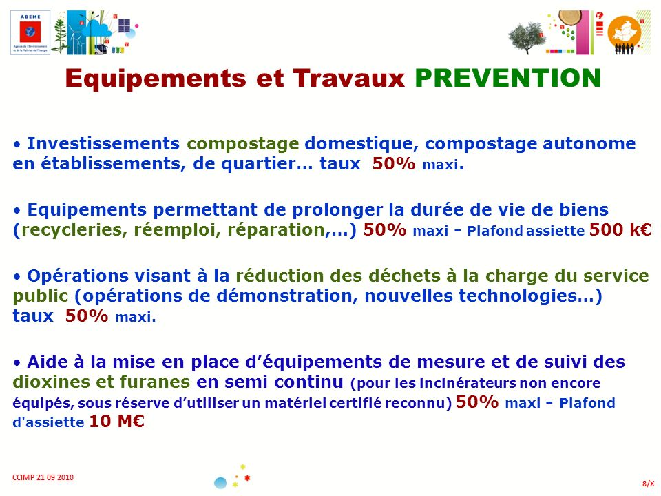 Equipements et Travaux PREVENTION
