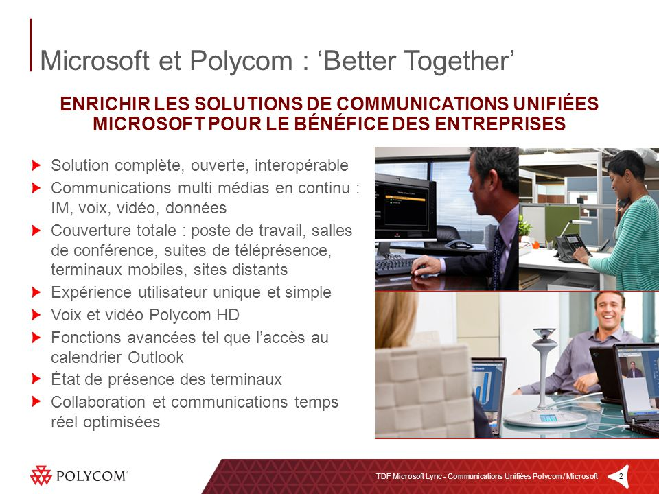 Microsoft et Polycom : 'Better Together'