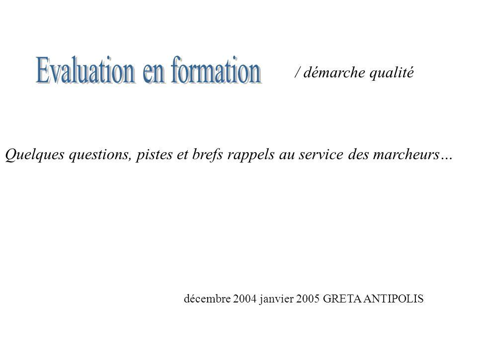 Evaluation en formation