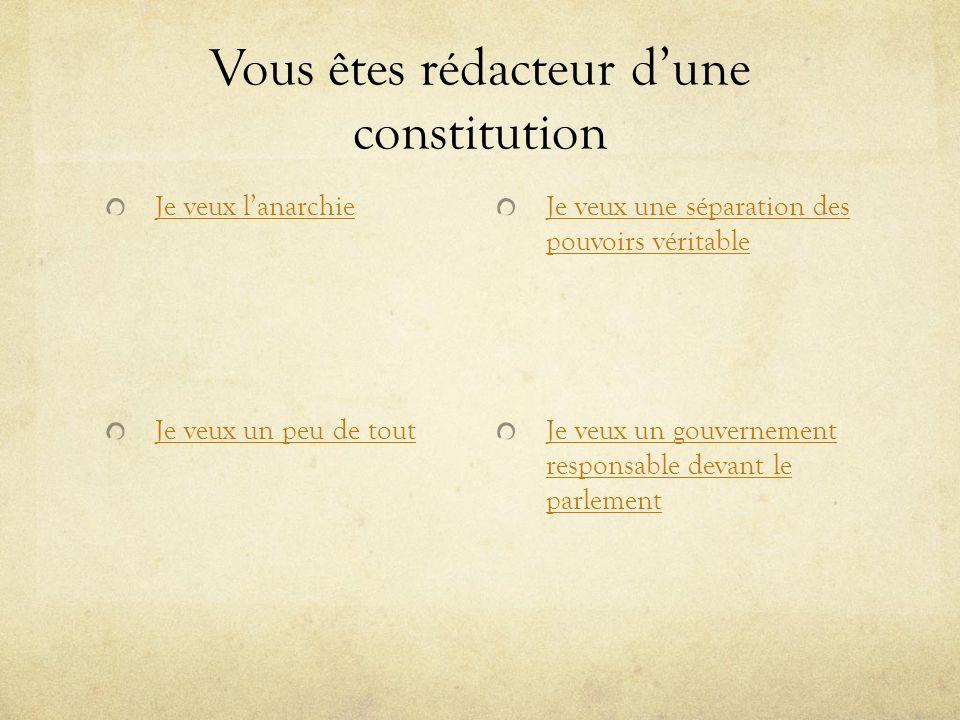 Vous êtes rédacteur d'une constitution