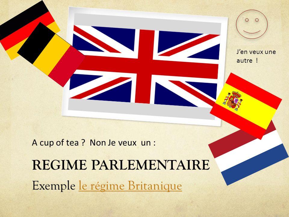 REGIME PARLEMENTAIRE Exemple le régime Britanique
