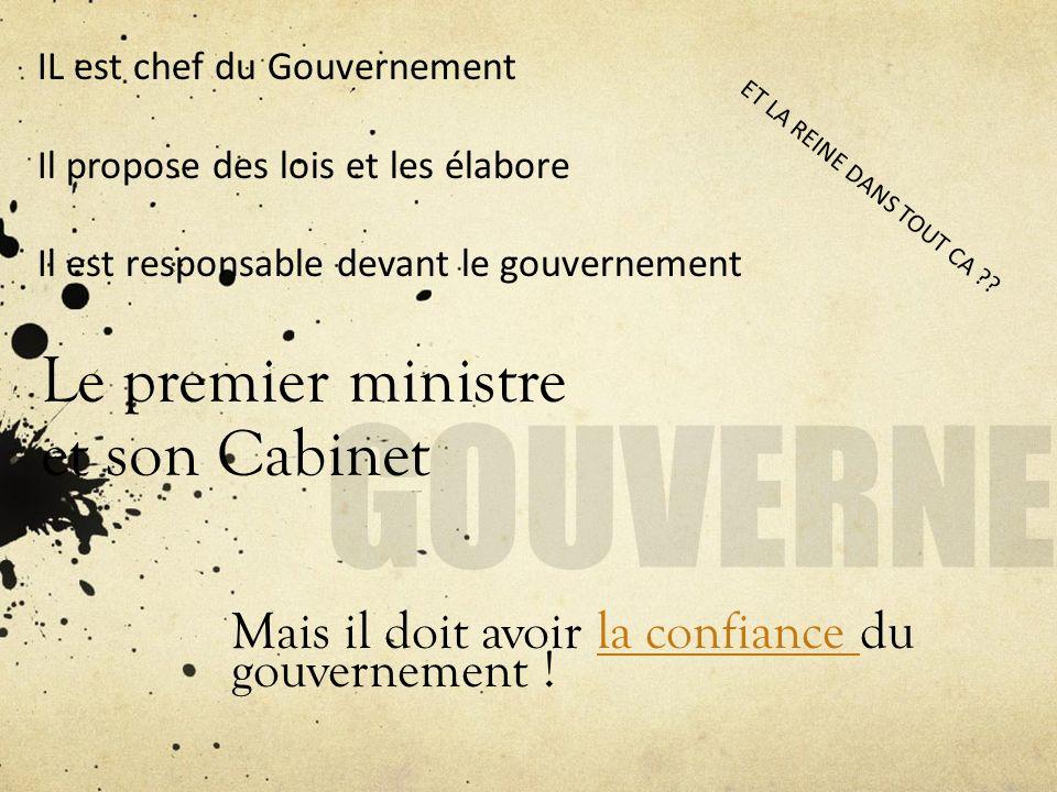 Le premier ministre et son Cabinet