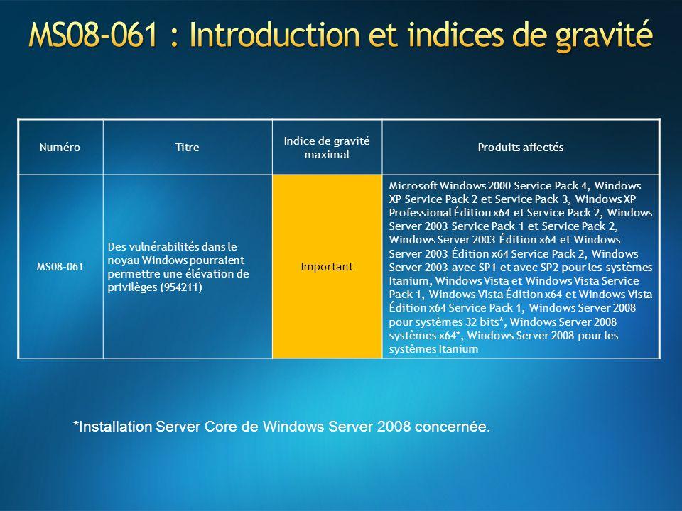 MS08-061 : Introduction et indices de gravité