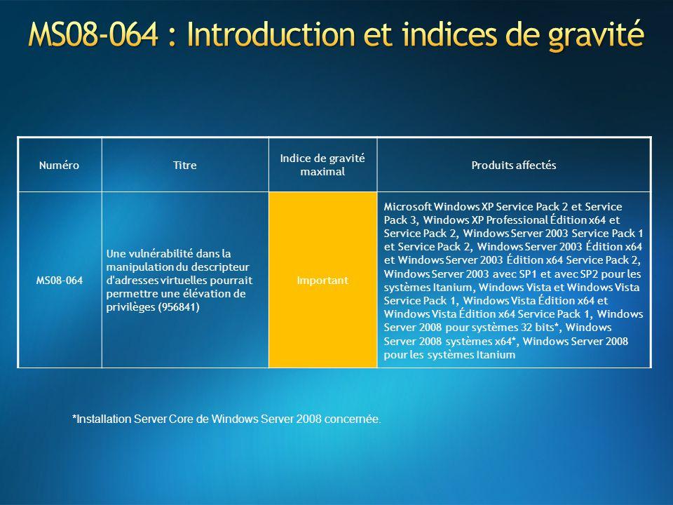 MS08-064 : Introduction et indices de gravité