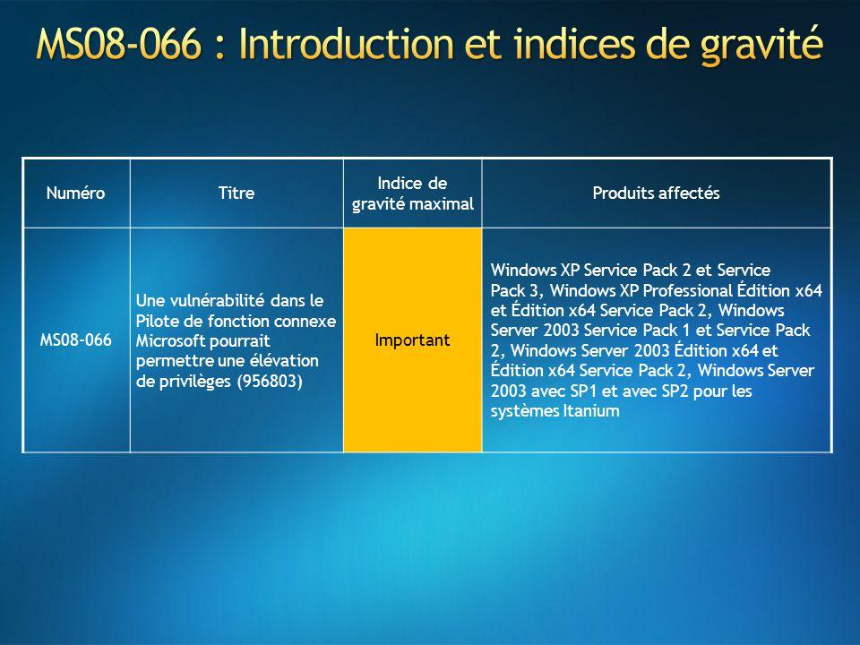 MS08-066 : Introduction et indices de gravité