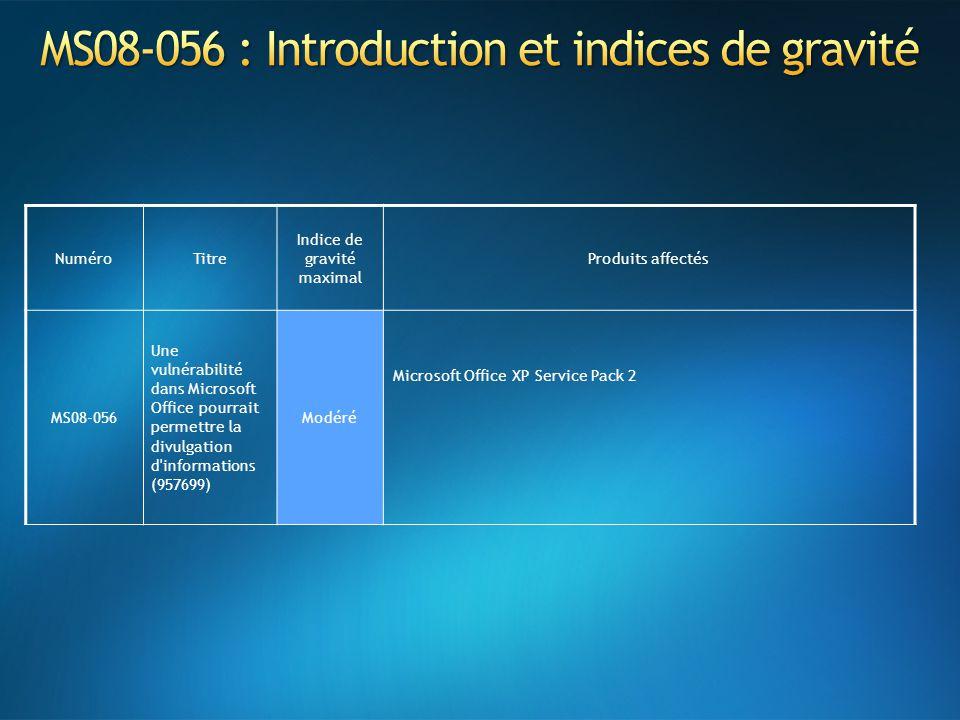 MS08-056 : Introduction et indices de gravité