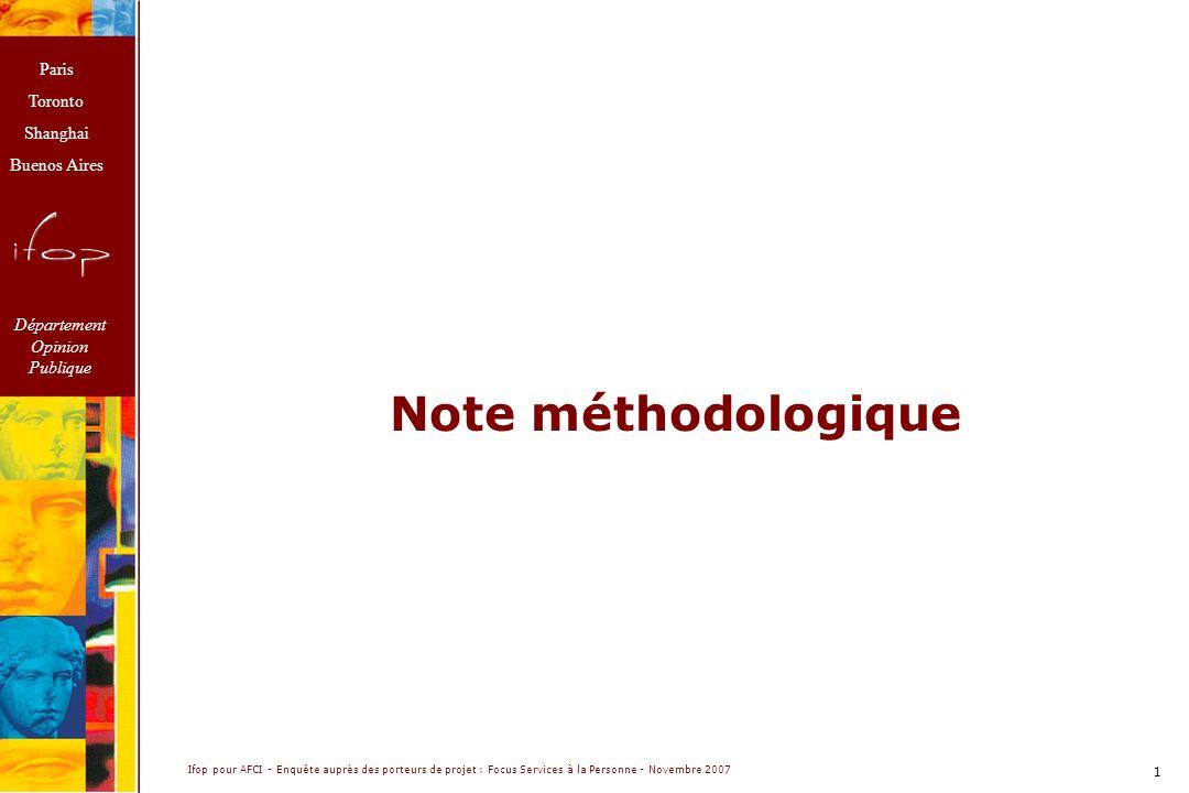 Note méthodologique.