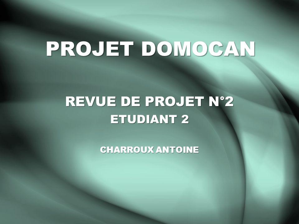 REVUE DE PROJET N°2 ETUDIANT 2 CHARROUX ANTOINE