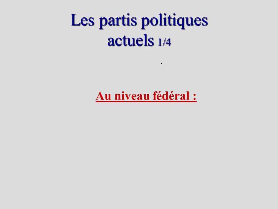 Les partis politiques actuels 1/4