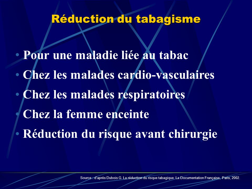 Réduction du tabagisme