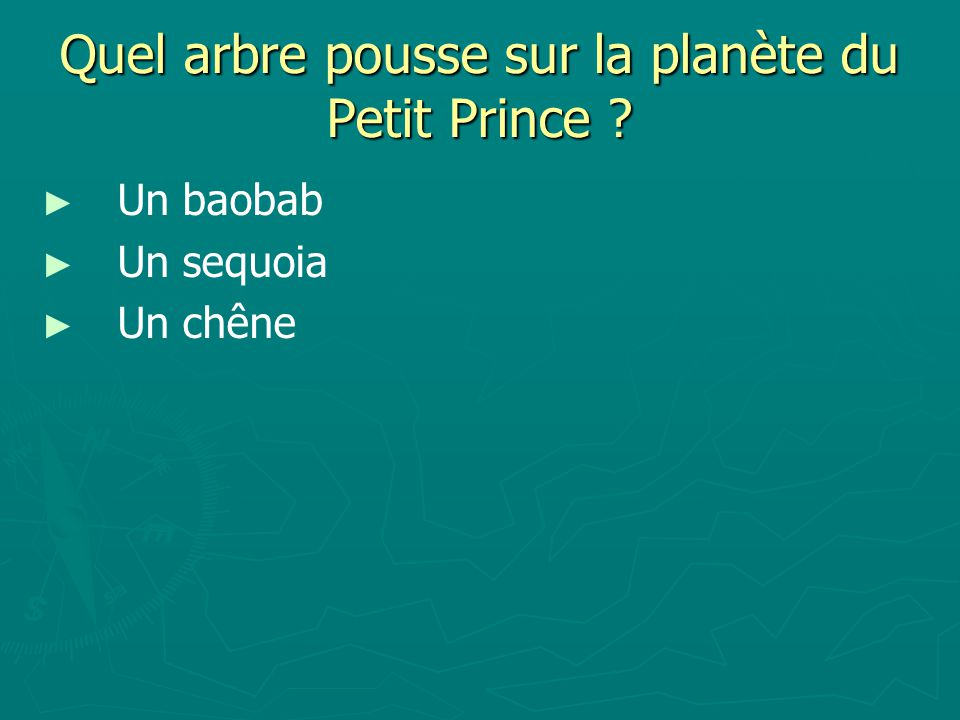 Quel arbre pousse sur la planète du Petit Prince