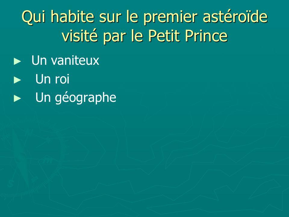 Qui habite sur le premier astéroïde visité par le Petit Prince