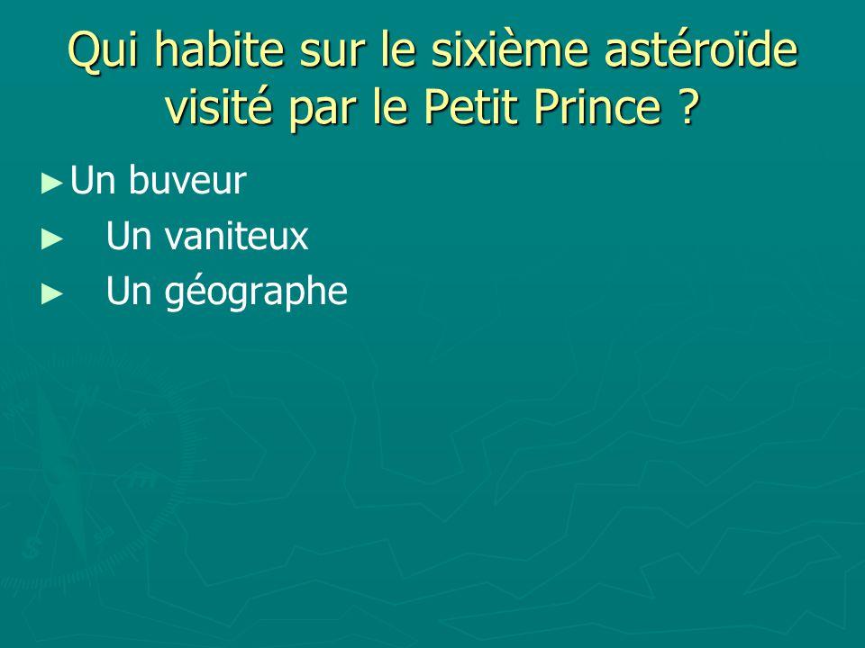 Qui habite sur le sixième astéroïde visité par le Petit Prince