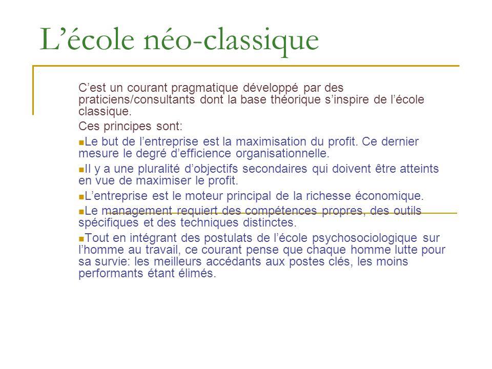 L'école néo-classique