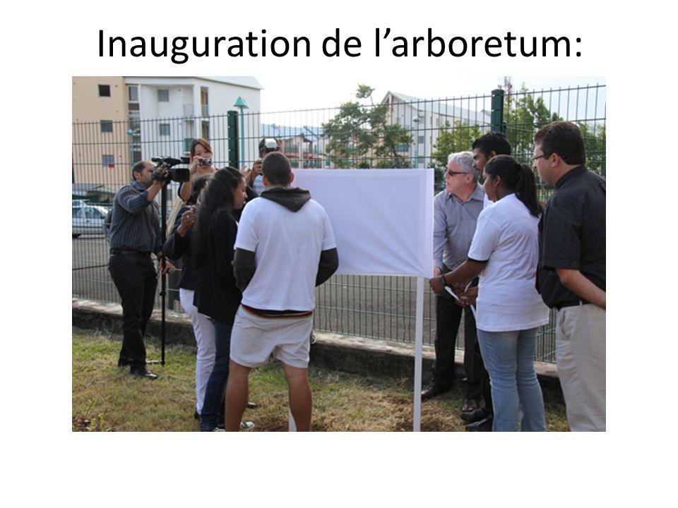 Inauguration de l'arboretum: