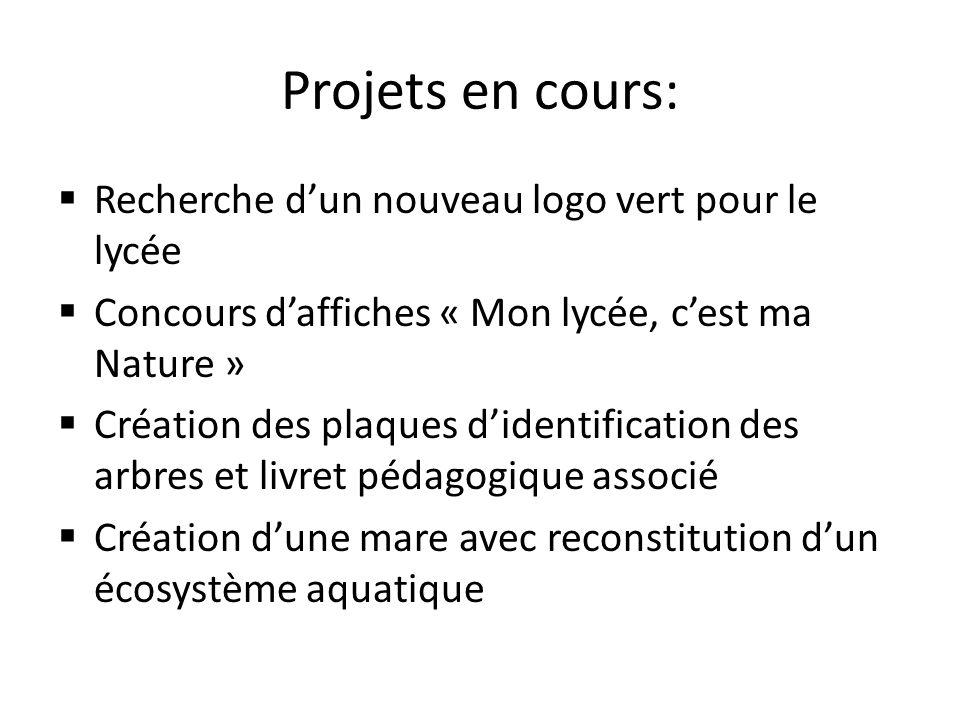 Projets en cours: Recherche d'un nouveau logo vert pour le lycée