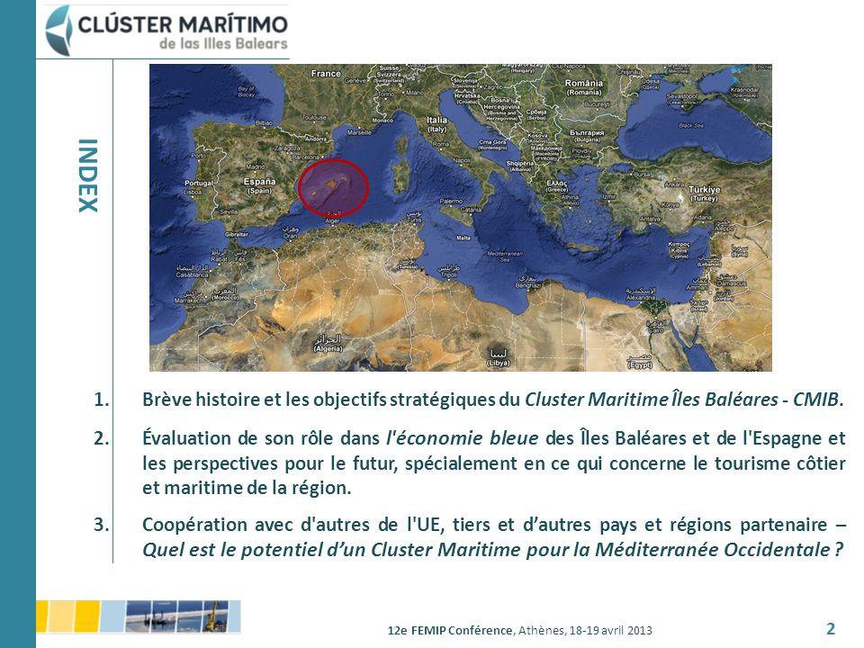 INDEX Brève histoire et les objectifs stratégiques du Cluster Maritime Îles Baléares - CMIB.
