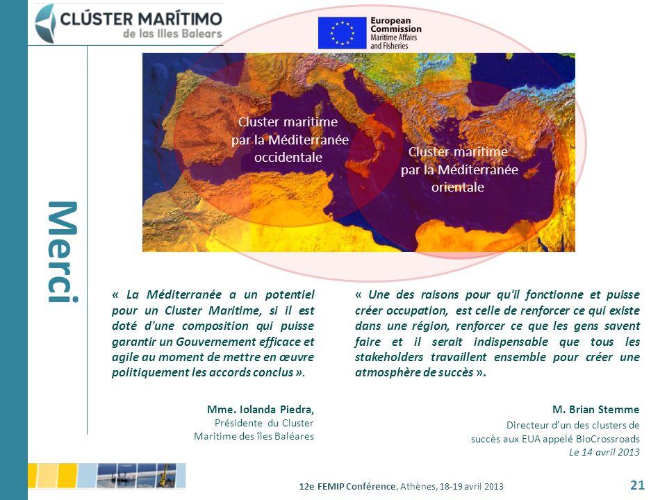 Merci Cluster maritime par la Méditerranée occidentale