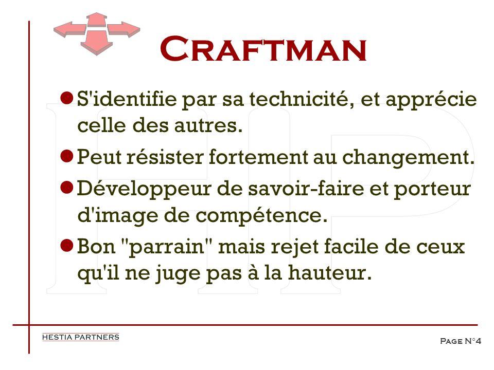 Craftman S identifie par sa technicité, et apprécie celle des autres.
