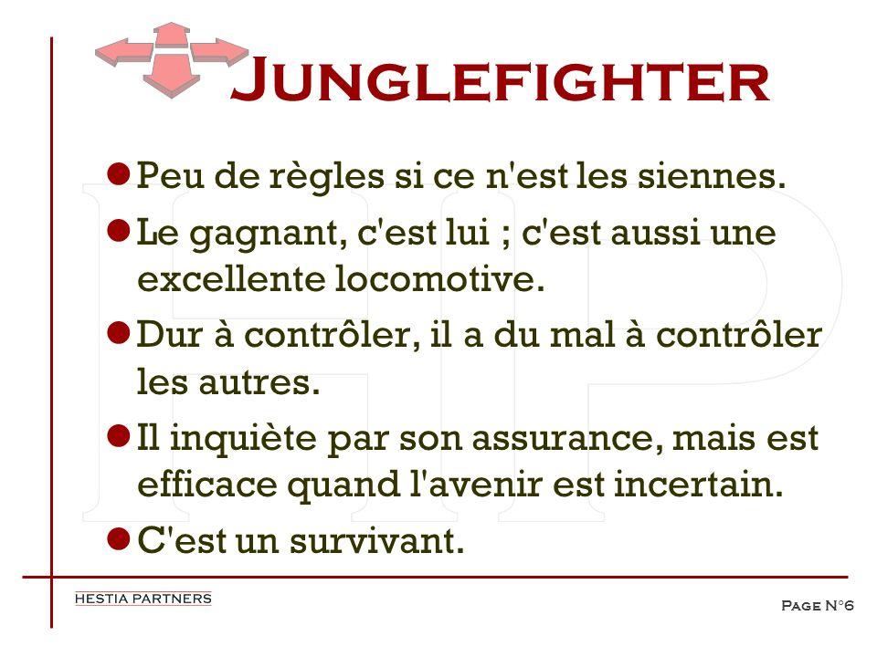Junglefighter Peu de règles si ce n est les siennes.