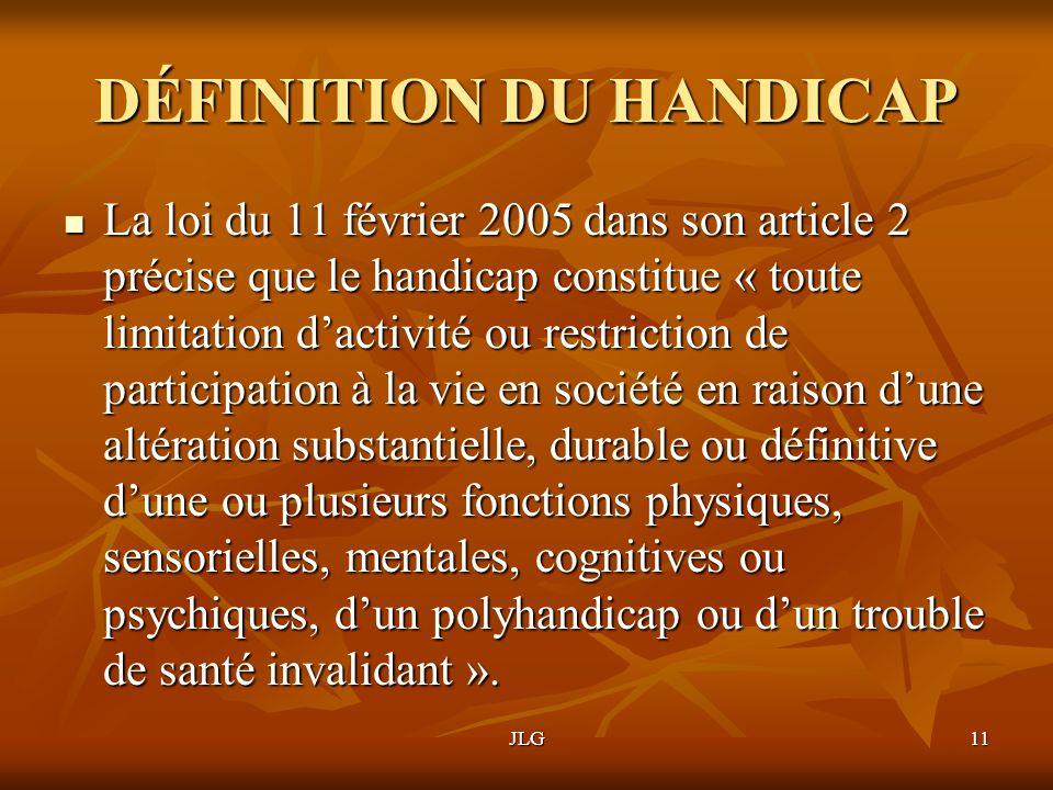 DÉFINITION DU HANDICAP