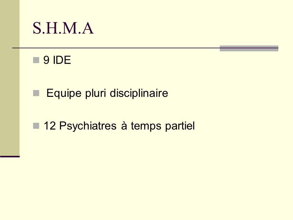 S.H.M.A 9 IDE Equipe pluri disciplinaire