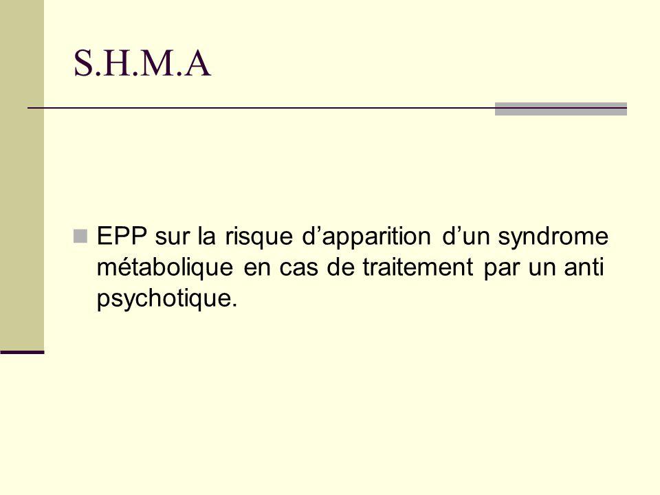 S.H.M.A EPP sur la risque d'apparition d'un syndrome métabolique en cas de traitement par un anti psychotique.
