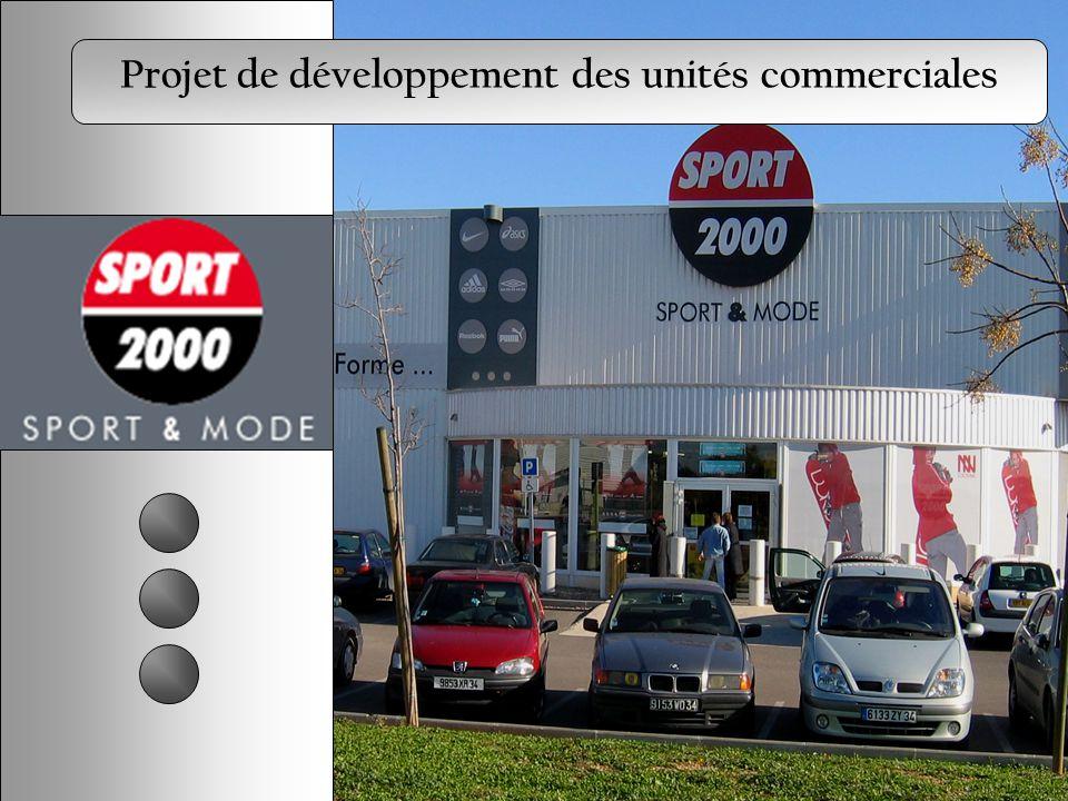 Projet de développement des unités commerciales